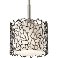 Narrow hanging light Silver Coral  18 4 cm