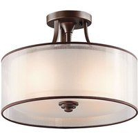 Lacey semi flush ceiling light