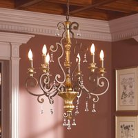 Noble chandelier Marquette with crystal ornaments