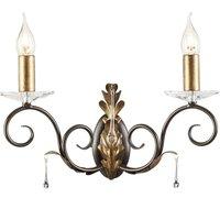 Decorative wall lamp Amarilli bronze  2 light