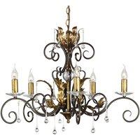 Fantastic chandelier Amarilli bronze  5 light