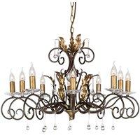Impressive chandelier Amarilli bronze  10 light