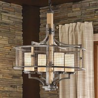 Rustic country style chandelier Ahrendale