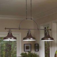 Emery industrial pendant lamp bronze 3 bulb