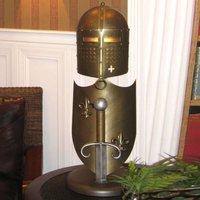 Handmade table lamp Crusader