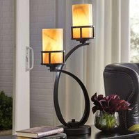 With onyx lampshades   table lamp Kyle