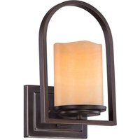 Pretty wall lamp Aldora with onyx lampshade