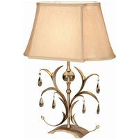 Glass elements    fabric table lamp Lily