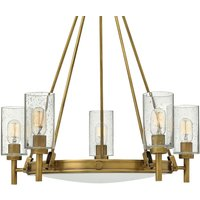 Fife bulb Collier chandelier