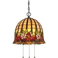 Floral designed Rosecliffe Tiffany pendant light
