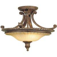 Elegant semi flush ceiling lamp Stirling Castle