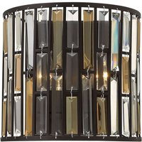 Semi cylindrical wall light Gemma with crystals