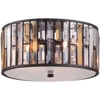 Fantastic crystal ceiling light Gemma