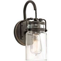 Transparent lampshade   wall lamp Brinley