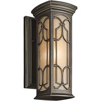 Bronze coloured Franceasi outdoor wall light