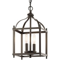 Hanging lamp Larkin in bronze   two bulb