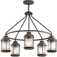 Ashland Bay hanging lamp in weathered zinc look