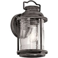 Lantern shaped Ashland Bay outdoor wall lamp