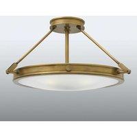 Collier   large semi flush ceiling light