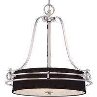 Stylish hanging light Gotham in black and silver