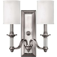 Two bulb wall lamp Sussex  brushed nickel