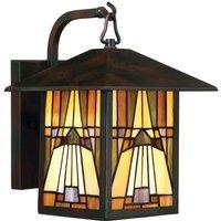 Wall lantern Inglenook in a Tiffany look 31 4 cm