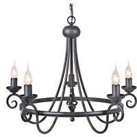 Harlech chandelier  five bulb