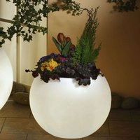 Illuminated planter  highest quality  white 50