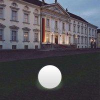 Snowball Globe Lamp  White  Aluminium Base 40 cm