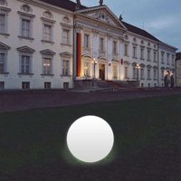 Snowball Globe Lamp  White  Aluminium Base 50 cm