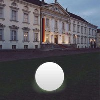 Snowball Globe Lamp  White  Aluminium Base 60 cm