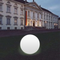 Snowball Globe Lamp  White  Aluminium Base 80 cm
