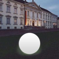 Snowball Globe Lamp  White  Aluminium Base 100 cm