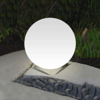 Ideal Snowball Globe Lamp White  Stainless Base 40