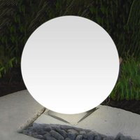 Ideal Snowball Globe Lamp White  Stainless Base 60