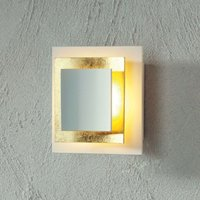Gold plated wall light Pages 14 cm
