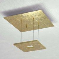 Escale Zen   gold leaf ceiling light with LEDs