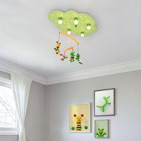 Frog ceiling light with an integrated mobile