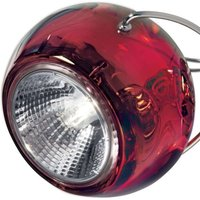 Elegant BELUGA COLOUR designer hanging light red