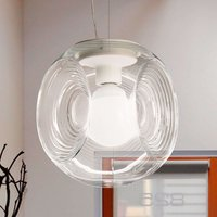 Eyes   glass hanging light with clear diffuser