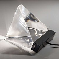 Small Tripla crystal table lamp w  LED  anthracite
