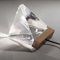 Small Tripla crystal table lamp w  LED  bronze