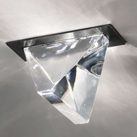 Tripla LED recessed ceiling light anthracite