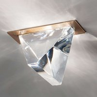 Tripla LED recessed ceiling light bronze