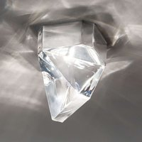 Fabbian Tripla   LED crystal ceiling light  alu