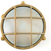 Noray round bulkhead light  brass coloured