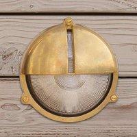Antique brass outdoor wall light Timon