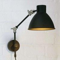 Celia wall light  adjustable  black