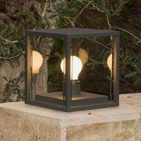 Cubic Nala pillar light in dark grey