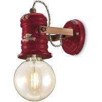 C1843 wall light with a vintage design  wine red